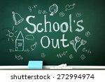 inscription on blackboard... | Shutterstock . vector #272994974
