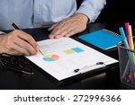 man analysis business and... | Shutterstock . vector #272996366