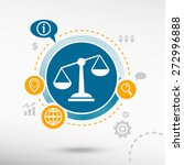 scales of justice sign and... | Shutterstock .eps vector #272996888