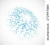 3d halftone circle | Shutterstock .eps vector #272997884