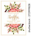 flower blossom. romantic... | Shutterstock .eps vector #272999828