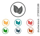 leaf icon. fresh natural... | Shutterstock .eps vector #273003188