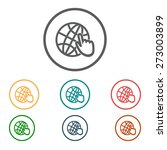 globe icon. flat design. | Shutterstock .eps vector #273003899
