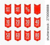 discount labels. vector. | Shutterstock .eps vector #273008888