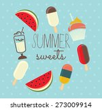 summer sweets vector...