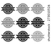 premium badge. vector | Shutterstock .eps vector #273010526