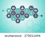 medical background and icons to ... | Shutterstock .eps vector #273011696