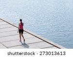 young woman running | Shutterstock . vector #273013613