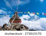 Buddhist Stupa In Mountains  ...