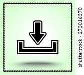 download sign icon  vector... | Shutterstock .eps vector #273016370