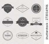brand and logo design  old... | Shutterstock .eps vector #273016946