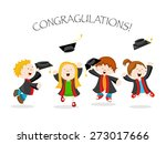 graduated kids | Shutterstock .eps vector #273017666