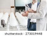 businessman in a conference... | Shutterstock . vector #273019448