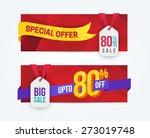 80 percent off discount... | Shutterstock .eps vector #273019748