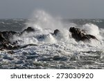 Big Waves Crashing Against...