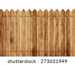 Wooden Fence Background...