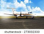 propeller airplane parking at... | Shutterstock . vector #273032333