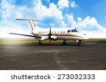 propeller airplane parking at...   Shutterstock . vector #273032333