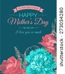 happy mothers day typographical ... | Shutterstock .eps vector #273034280