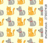 cute funny seamless pattern... | Shutterstock .eps vector #273037418