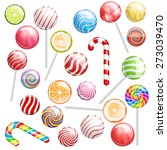 different colors lollipops... | Shutterstock .eps vector #273039470