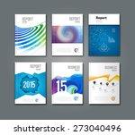 set of modern geometric... | Shutterstock .eps vector #273040496