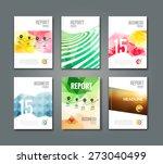 set of trendy geometric... | Shutterstock .eps vector #273040499