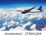 Commercial Airliner Flying...