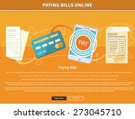paying bills payments online... | Shutterstock .eps vector #273045710