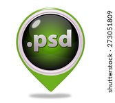 .psd pointer icon on white... | Shutterstock . vector #273051809