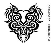 chinese ink tattoos for... | Shutterstock .eps vector #273054830