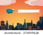 vector image of a zeppelin with ...