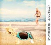 shells on sandy beach | Shutterstock . vector #273056114