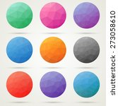 triangle low poly circles set.... | Shutterstock .eps vector #273058610