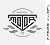 automotive  motorcycle badge...   Shutterstock .eps vector #273058943
