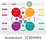 web template for circle diagram ... | Shutterstock .eps vector #273059093