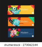 set of banners with stickers ... | Shutterstock .eps vector #273062144