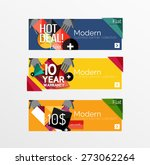 set of banners with stickers ... | Shutterstock .eps vector #273062264