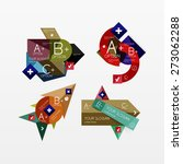 paper graphics infographic web... | Shutterstock .eps vector #273062288