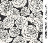 hand drawn rose flower... | Shutterstock .eps vector #273063224