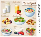 breakfast 2. set of cartoon... | Shutterstock .eps vector #273066830