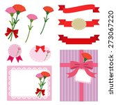 set of mother's day elements  ... | Shutterstock .eps vector #273067220