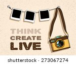 old  fashioned photo camera and ... | Shutterstock .eps vector #273067274