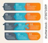vector arrows infographic... | Shutterstock .eps vector #273071009
