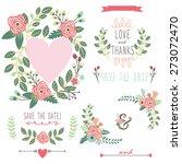 vintage wreath elements   Shutterstock .eps vector #273072470