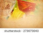 tibetan prayer flags vintage... | Shutterstock . vector #273073043