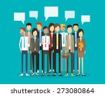 group people business and... | Shutterstock .eps vector #273080864