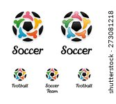 logo with a soccer ball and... | Shutterstock .eps vector #273081218