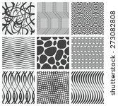 set of nine geometrical patterns | Shutterstock .eps vector #273082808