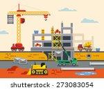 building construction flat...